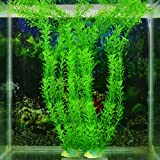 Vollter Ornement Décoration artificielle Green Grass Plant for Fish Tank Aquarium Décor