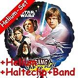 * Singendes * Folienballon Set * STAR WARS * + HELIUM FÜLLUNG + HALTE CLIP + BAND für Kindergeburtstag // Folien Ballon Helium Deko Ballongas
