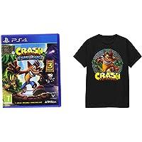 Crash Bandicoot N. Sane Trilogy - PlayStation 4 + T-Shirt Crash Logo Tee L