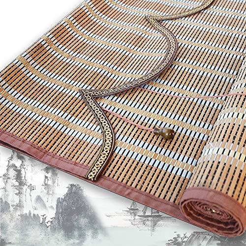 Bambou Store Enrouleurs QIANDA Raumteiler for Zuhause Fenster Sichtschutz Rollos Raffrollo Orientalische Möbel Retro-Stil, Größe Brauch (Color : A, Size : 110cmX225cm)
