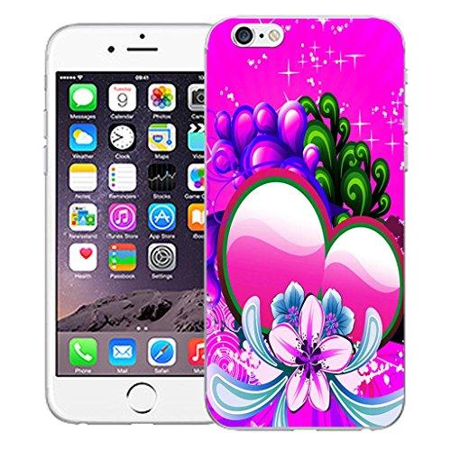 """Nouveau iPhone 6 4.7"""" inch clip on Dur Coque couverture case cover Pare-chocs - prestine Motif avec Stylet pink sweetheart"""