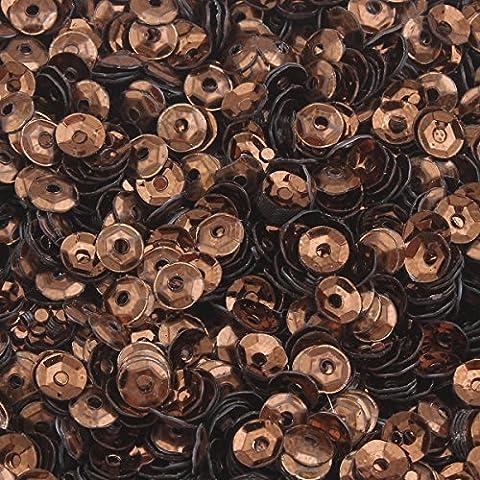 2400 Stk. Pailletten Ø 3mm Schüssel gewölbt für DIY Kleidung und Schmuck , Handwerk Metallic Farbauswahl Basteln Sequin Bombe (Kupfer)