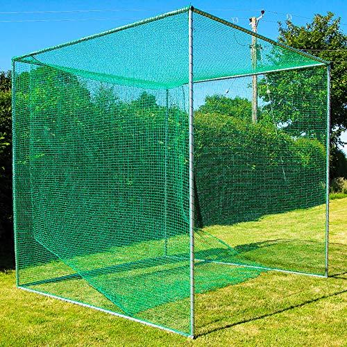 FORB Freistehender Golfkäfig und Netz (3m x 3m x 3m)