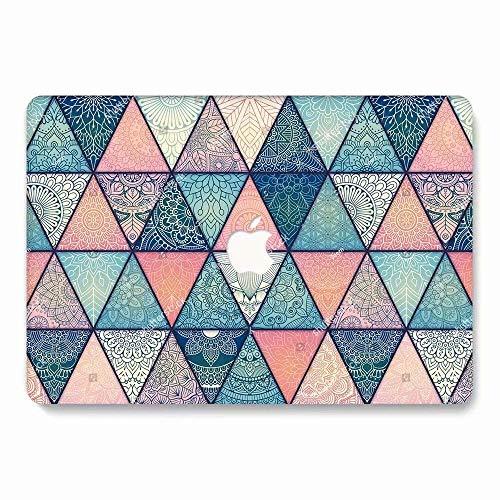 RQTX MacBook Air 13 Zoll Gehäuse A1932 (Release 2018), Hartschalencover aus mattem Kunststoff für MacBook Air 13 Zoll Gehäuse mit Retina Display für Touch ID - Dreieckmuster LDC 33 Ldc Display