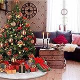 Tenrany Home Peluche Gonne per Alberi di Natale, Bianca Lusso in Finta Pelliccia Albero di Natale Gonna Christmas Tree Skirt per Festa di Natale Partito Vacanza Decorazione (White, 36 inches)