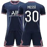 Mengdie Roze Paars 30 # M.e.s.s.i Voetbal Jersey Voetbalfans Volwassen Kids T-Shirt Shorts met sokken, Parijs Saint Germain T