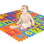 Kid Puzzle Exercise Play Mat, Womdee Foam Mat of Alphabet Puzzle Pieces– Great for Kids to Learn and Play â...