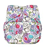 Bumberry Reusable Diaper Cover Without Insert - Violet Print
