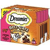 Dreamies Deli Catz mit Rind | 8 x 25g Katzensnack, Leckerli