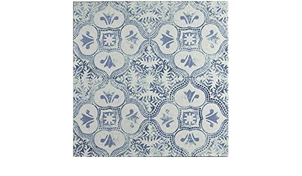 SomerTile FGAKAL3 Carriere Quarry Floor /& Wall Tile White Alcazar Helios,, 12.75 x 12.75 Blue