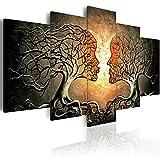 murando handgemalte Bilder Bäume Kuss 200x100 cm Gemälde 5 TLG Baum h-A-0086-b-p