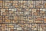 Zaunsichtschutz, Windschutz (30 versch. Motive) für Doppelstabmattenzaun *Stein bunt* beidseitig, 19cm, 26m Rolle