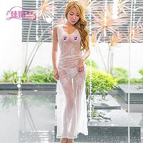 ZHANGYONG*Sexy bademantel Durchleuchtung web Kleid Göttin live Versuchung Temperament und Unterwäsche homewear Weibchen größer, 170 (L), (Versuchungen Weihnachten Live)