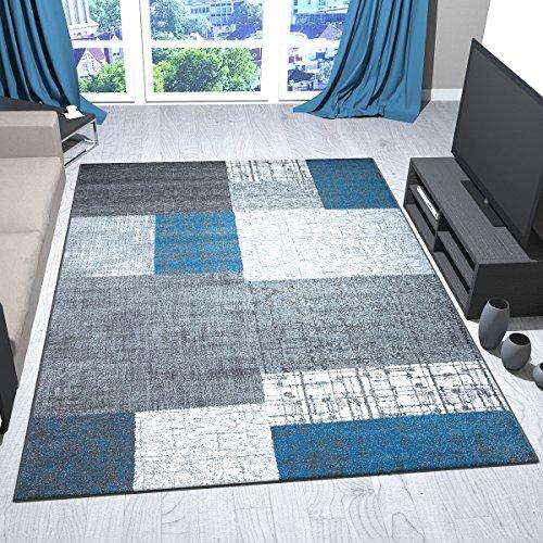 designer-a-pelo-corto-tappeto-in-turchese-blu-grigio-e-bianco-effetto-tegola-di-facile-manutenzione-