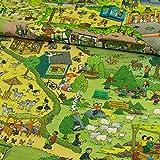 Baumwolljersey Tierpark Nordhorn Wimmelbild Kinderstoffe -