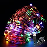 Led String Lights,TechRise 10-Meters Colorful 100 LEDS Star Starry Copper Wire Fairy String Lights For Holiday Party Wedding Christams Decoration - Multi Color