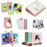 Jinshen Camera-accessoires Bundle Kit Instant Foto Opbergset voor Fujifilm Instax Mini 9/8/8+/LiPlay Fotolijsten, Stickers, M