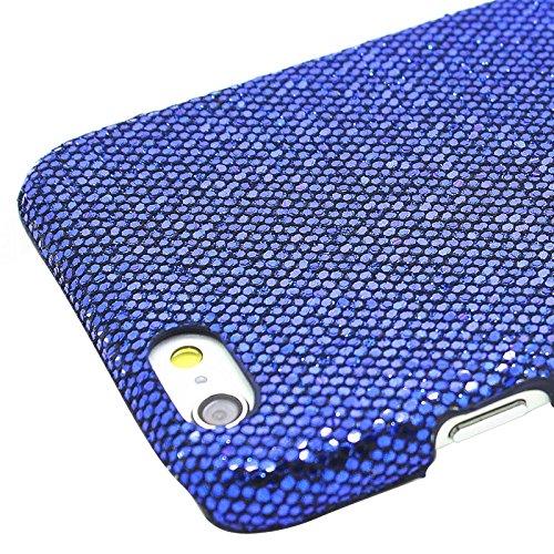 Phone case & Hülle Für IPhone 6 & 6S, Shimmering Powder Galvanisieren Kunststoff Hard Case ( Color : Pink ) Dark Blue