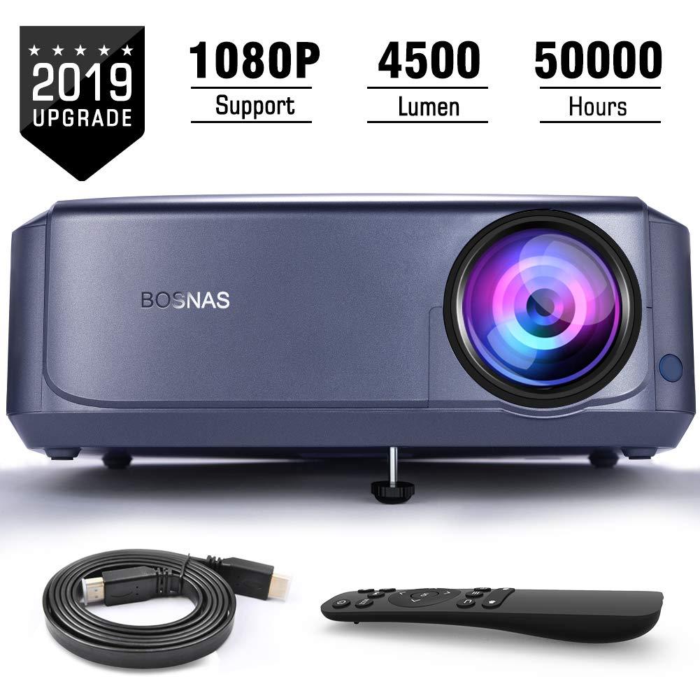 Rétroprojecteur 4500 Lux Multimédia Full HD Vidéoprojecteur vidéo
