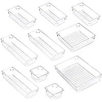 ACCEVO 10 pièces organisateur de tiroir de maquillage durable transparent, boîte de rangement de tiroir en plastique…