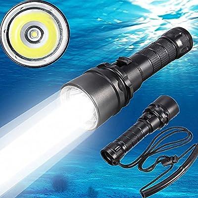 2016nuevo CREE XM-L22000LM LED linterna de buceo, bajo el agua 100m impermeable submarino luz batería recargable incluido