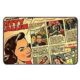 Cadora Magnetschild Kühlschrankmagnet Vintage Retro Werbung Kitty Kallen Comic Haarwäsche gegen fettiges Haar