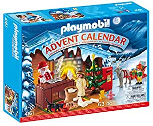 Playmobil 4161 jeu de construction calendrier de l 39 avent atelier du p re no l - Calendrier de l avent amazon ...