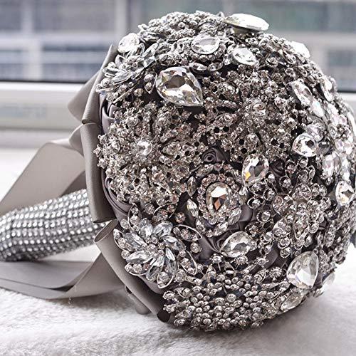 GE&YOBBY Diamond Wedding Bridal Bouquets,Crystal Teardrop Stil Braut Strauß Für Luxuriöse Hochzeitsdekoration-a 20x27cm(8x11inch)