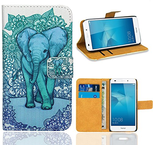Huawei Honor 5C Handy Tasche, FoneExpert Wallet Case Flip Cover Hüllen Etui Ledertasche Lederhülle Premium Schutzhülle für Huawei Honor 5C