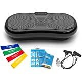 Bluefin Fitness Ultra Slim Vibration Plate | Lose Fat & Tone Up at Home | 5 Programs + 180 Levels | Bluetooth Speakers | Easy