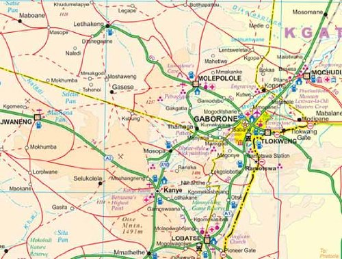 Botswana & Zimbabwe 1 : 1 500 000 / 1 : 1 170 000: A Travellers Reference Map (International Travel Maps)