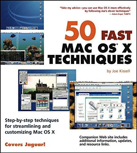 50 Fast Mac OS X Techniques (50 Fast Techniques Series) by Joe Kissell (2003-05-02) par Joe Kissell