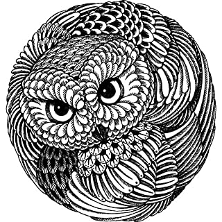 Azeeda A7 'Circular Owl Feather Pattern' Unmounted Rubber Stamp (RS00005515)