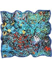 ae160031fe32 Prettystern - 110 cm carré surdimensionné écharpe de soie handrolled - van  Gogh - 5 sélection