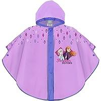 PERLETTI Mantellina Pioggia Frozen 2 Bambina Violetto Lilla - Mantella Antipioggia con Elsa e Anna per Bambine - K Way…
