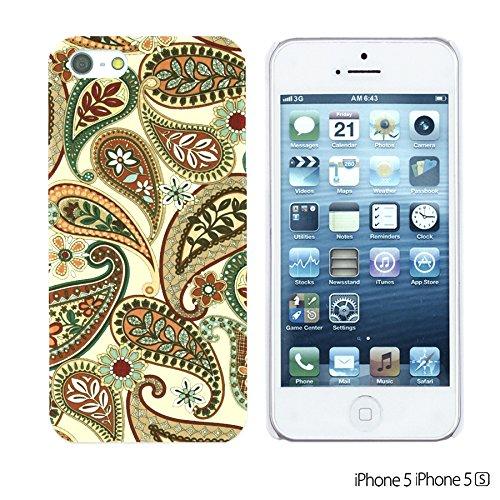 OBiDi - Fabric Pattern Hard Back Case / Housse pour Apple iPhone 5S / Apple iPhone 5 - Pink Boho Pattern Caravan Paisley