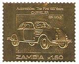 22K Carat oro Leaf auto 100 classici francobolli auto CHRYSLER / 1987 / Zambia / MNH - Stampbank - amazon.it