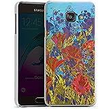 Samsung Galaxy A3 (2016) Housse Étui Protection Coque Rouge Fleurs Fleurs
