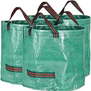 616btQyODgL. SS300  - GardenMate - 3x Bolsas de basura de jardín, polipropileno (PP), 60L