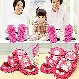Yongse Zapatos 2pcs Quitar el polvo del polvo escoba de la fregona de limpieza de habitaciones deslizadores perezosos FREGASUELOS