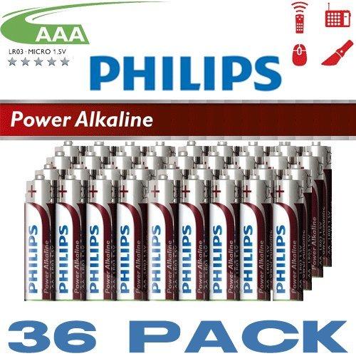 Preisvergleich Produktbild Philips 36 Pack AAA Cell Alkaline Batteries Powerlife Extra Value Multipack x 36