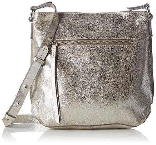 Clarks Damen Topsham Jewel Leder, Silber (Silver Leather), 10x25x31 cm Clarks 10 Damen