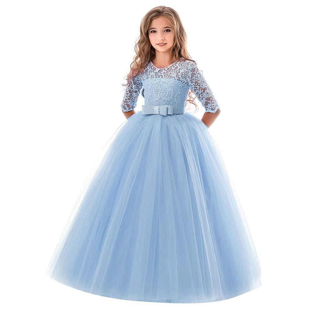 8e15e04004b7 feiXIANG Ragazze Principessa Vestito Costume Abito da Cerimonia ...