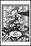 JUNIQE® Poster encadré 20x30cm Noir & blanc Films - Design 'Vintage Mordor Tower Eye of Sauron' (Format : Portrait) - Affiche encadrée, Affiche sous cadre & Poster sous cadre par des artistes indépendants - Posters de films, séries et TV - créé par Barrett Biggers