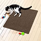 "casa pura® Sisal Cat Scratch Mat, Tobacco Brown - 60x80cm (24"" x 32"") 