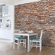 suchergebnis auf amazon.de für: tapete türkis braun - Tapete Steinoptik Wohnzimmer