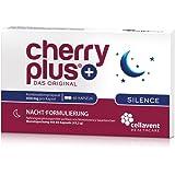 Cherry PLUS Silence: Nachtkombi aus der Montmorency Sauerkirsche mit natürlichem Melatonin, der Schlafbeere (Ashwagandha) & L-Tryptophan von Cellavent Healthcare - 60 vegane Kapseln