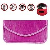 AOLVO strahlenabweisend RF-Signal blockieren Tasche Abschirmung Tasche Wallet Schutzhülle für iPhone, Samsung- und Handy andere Sichtschutz und Auto Schlüsselanhänger