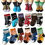 Todder 6 Pairs Non Sikd Shoe Socks Infan...