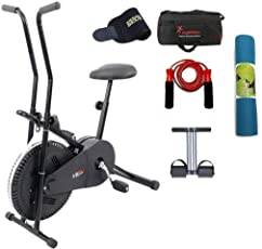 Lifeline Fitness Cycle 102 for Weight Loss at Home Bundles with Tummy Trimmer, Gym Bag, Yoga Mat (6 MM) and Accessories (5 Items)